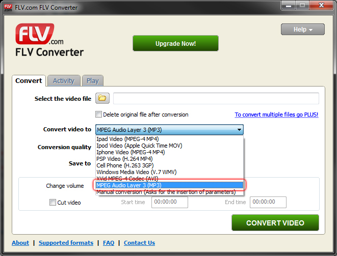 Free FLV to Mp3 Converter - Convert Flash video to Mp3 - FLV com