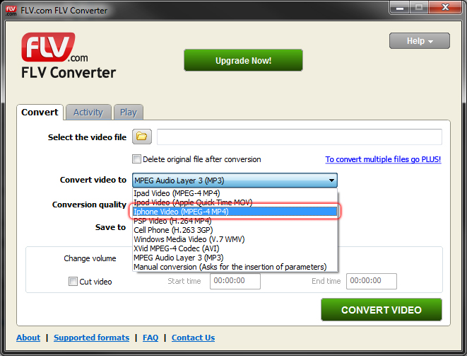 Free FLV to Mp4 Converter - Convert Flash video to Mp4 - FLV com