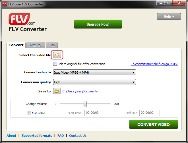 Convert MPG to MP4 or Vice Versa